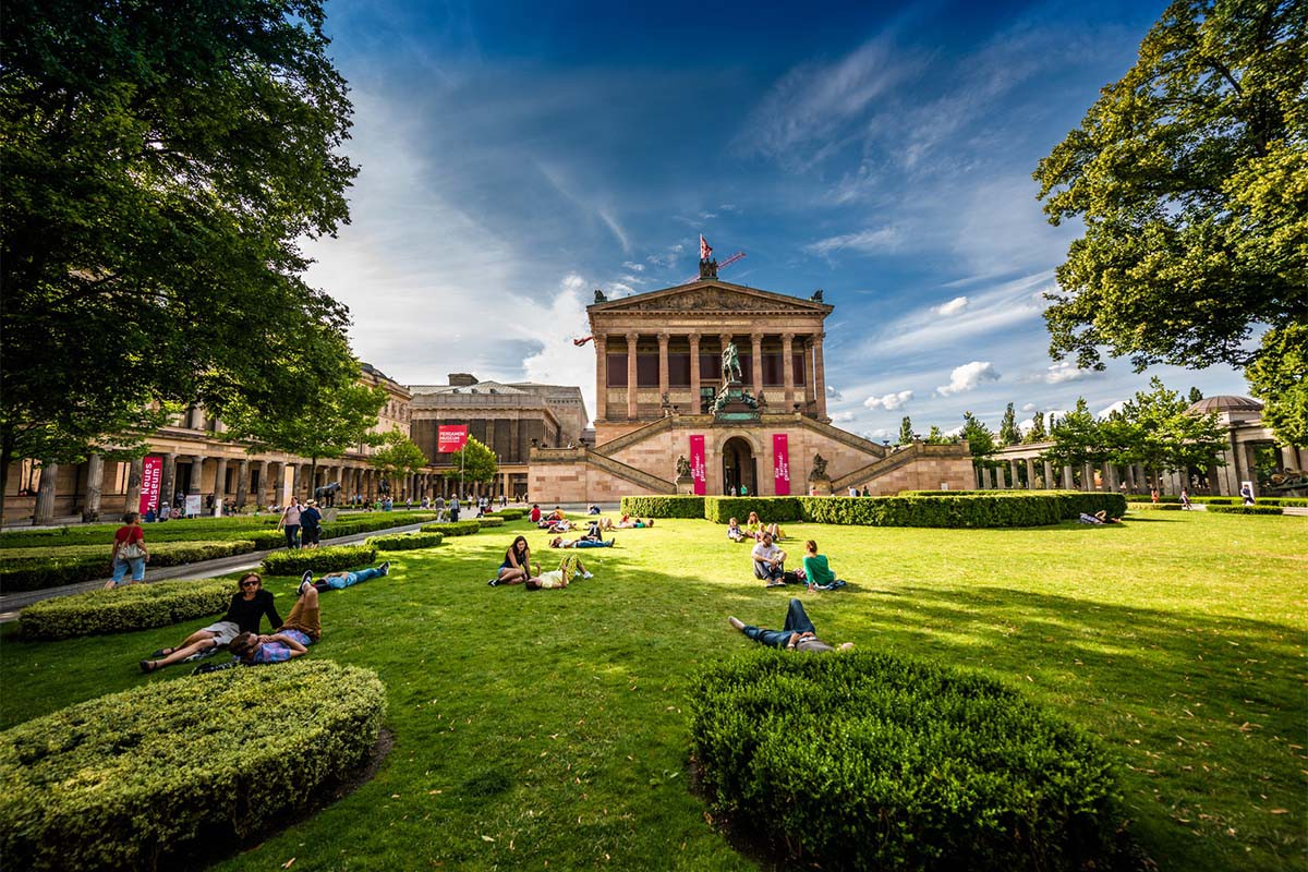 A Park On Museum Island In Central Berlin, Germany Park On Museum Island In Central Berlin, Germany Park On Museum Island In Central Berlin, Germany